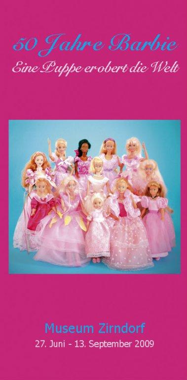 Grossansicht in neuem Fenster: Flyer zur Barbieausstellung