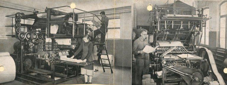 Übergabe Druckplatte - Druckerei Bollmann