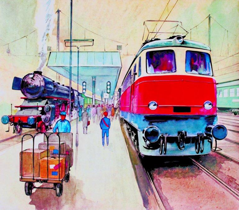 Grossansicht in neuem Fenster: Titelbild Eisenbahnsonerausstellung